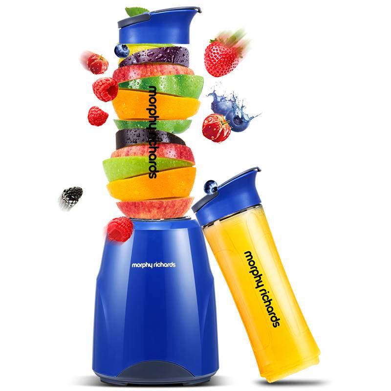 摩飞便携式果汁搅拌奶昔婴儿辅食机双杯MR9200