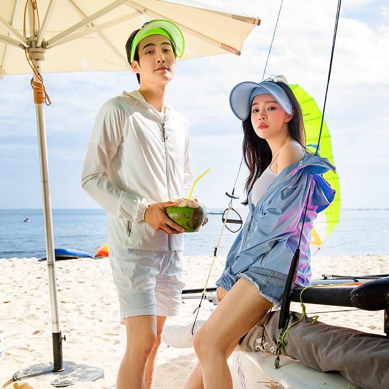 韩国 lets diet 防晒帽太阳帽女夏遮脸防紫外线三代防晒帽