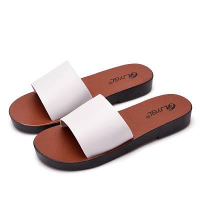 日式简约拖鞋女生街头百搭厚底凉鞋