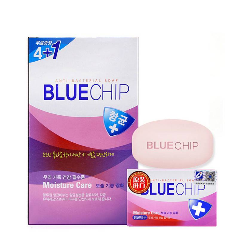 韩国进口 爱敬 Blue Chip杏仁油香皂100G*5块