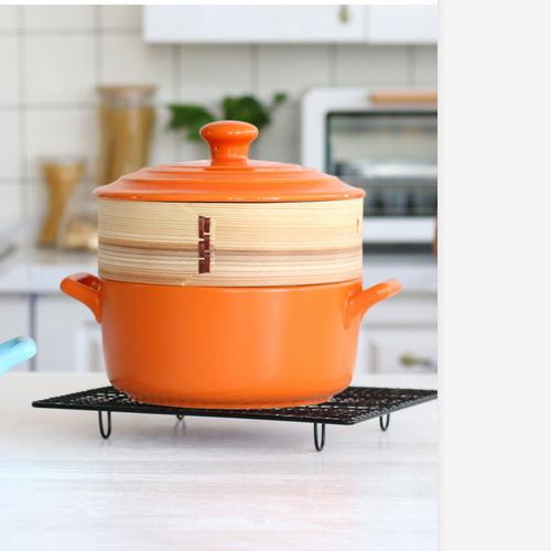 珐琅日式耐热蒸笼陶瓷砂锅 DK-1009