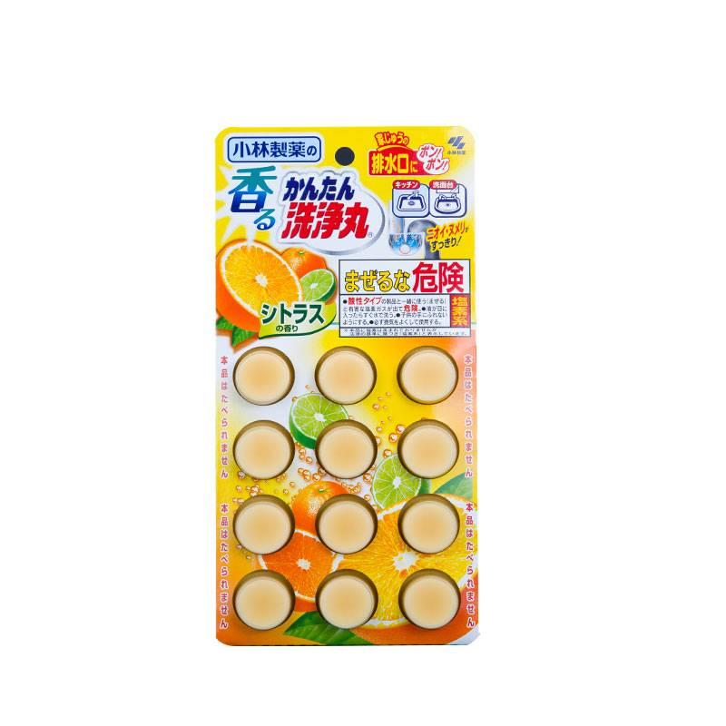 小林制药 排水管清道夫(柑橘香)12片*2盒
