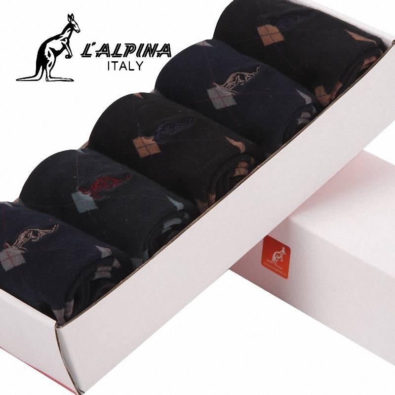 LALPINA袋鼠时尚商务男袜5双盒装31154